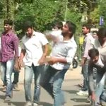 Bandh across 10 districts that will constitute the new Telangana state: Stone pelting by students. http://t.co/0lgrWd3DfT