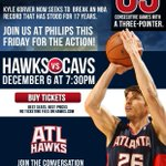 Be at Philips or watch the @AtlHawks this FRI on @SportSouth! Our coverage of game starts at 7:00. #KyleStreak http://t.co/FC7RmPLRUC