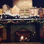 #Houstonian Hotel mantel has 10 six-foot-tall gingerbread houses on it & a continuously running model train.@KHOU http://t.co/OUFfSwl3y0
