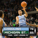 """@GoHeels: Carolina takes down #1 Michigan State! #GoHeels http://t.co/I8swbFWLvQ"" @dav_720"