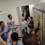 RoyW enters the postgame locker room --> RT http://t.co/c8kWmfkQIn