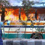 RT @rezwan: RT @shah_farhad: Cop trying 2 douse flames on a bus set ablaze by BNP/Jamat during Blockade in Dhaka http://t.co/H2q5ipx18u #SaveBangladesh