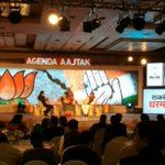 Smriti Irani tackles it well but discomfort palpable when BJP leaders face Snoopgate queries. #AgendaAajTak http://t.co/dWTb3HL7y8