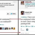 Rt @KiranKS Haha..AAP guys are such chameleons. Shazia Ilmis u-turn on Communal Violence Bill http://t.co/oucO6YVg7l via @dreamthatworks