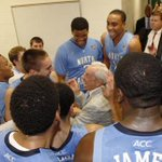 It was a fun night in the locker room post-game in East Lansing tonight #UNCBBall #GoHeels http://t.co/hsV2CYPUle