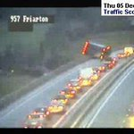 Overturned lorry blocking Friarton Bridge in Perth #scotstorm (pic from @trafficscotland) http://t.co/drF2RhNDfA http://t.co/tdK3Lbizmi
