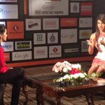 Priyanka Chopra taught me how to capture a #selfie . At #AgendaAajTak this afternoon. @HLTGNGSHOW http://t.co/qgp4fl2tTT