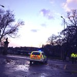 Police blocking off Meadows / Melville Drive #edinburgh #scotstorm http://t.co/zAoZu7v3og