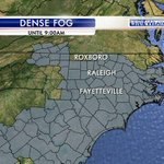 A dense fog advisory in effect until 9:00am. Visibilities down to 1/4 of a mile in spots... http://t.co/60uckRNHHT
