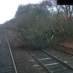 Trees on lines right across Scotland during todays storms-as pictured at Croy. All routes are shut. Dont try2travel http://t.co/9gFmGbMDGt