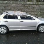 Quality street #edinburgh cruahed car #scotstorm http://t.co/Hkqpy2VTN4