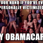RT @Nellie_V: Raise your hand if youve ever felt personally victimized by #ObamaCare http://t.co/Mh486bwE9P