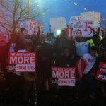 RT @RT_America: Fast-food employees conducting strike in US demanding $15 minimum wage http://t.co/xvIp2mmlDA http://t.co/VlZmOCKzB6 #fastfoodstrikes