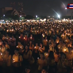 Candle light ceremony celebrating 86th birthday anniversary of His Majesty the King. #WeLoveKingTH http://t.co/0hekiLnH94