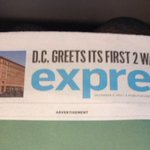 Not gonna lie, I almost fell down escalator when I saw todays @WaPoExpress cover! #DC has spoken! #WalmartDC http://t.co/Mq6JvQh0Mi