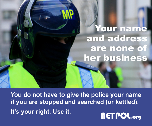 You don't need to give the police any personal details when searched or kettled #copsoffcampus #shoccupation http://t.co/BL77kz30ZB