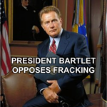 Pres. Bartlett opposes #Fracking. What will @BarackObama do to protect our health&environment? http://t.co/JECQHZTQ1H http://t.co/JyXGIy8kVy