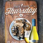 Our Fav day of the week is back. Buck-a-shuck #Oysters & $5 glasses of Oyster Bay Sauvignon Blanc #wine #yyc http://t.co/xaGGeHxobW