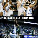 Green Spartans and Ham. Izzo is 0-7 against Carolina under Roy Williams. Inspired by @tarheelblogs tweet last night. http://t.co/JafOMd3LxJ