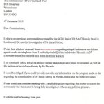 "RT @123KARACHI: A letter to Police Commissioner London. Thank you Lord Nazir Ahmed, God Bless you. http://t.co/6YLOJZvN8w"" #KARACHI #MQM #JI #PTIFAMILY"