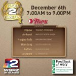 RT @WGRZ: Tomorrow is our annual Food 2 Families Food Drive.  We hope youll join us and help families in need! http://t.co/amclyu233V