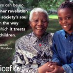 A true hero, a champion for children. We join millions around the world mourning the loss of Nelson #Mandela http://t.co/KKKZGcJkej