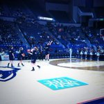 Nine minutes to tip in Hartford as the Aggies take on #1 UCONN http://t.co/YA5uUURzNl