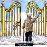 RT @JonnyGeller: Nelson Mandela is free - Peter Brookes rather beautiful cartoon in The Times http://t.co/8vQh2ZBaQD