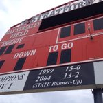 Stopped by Stratford practice today. The Knights sure would be happy to add 2014 to the list on the scoreboard. http://t.co/hqC9Tiq1LA