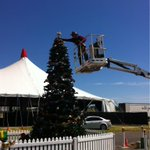 Acting Mayor Vern Veitch just put the star on top of the Carols tree! Its starting to look a lot like Christmas... http://t.co/SxpK6e1Onq
