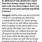 "RT @bangtist: ""yongguk hates exo"" ""b.a.p is worried bc they dont win like exo"" WOW READ THIS PLS http://t.co/1DOi8qki2w"