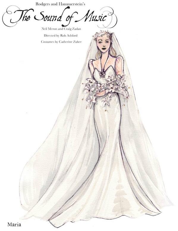 Sound of Music live Maria in her wedding dress to wed Captian George ...