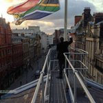 SA flag flying half mast at Liverpool Town Hall #Mandela http://t.co/XbTw02jLXO