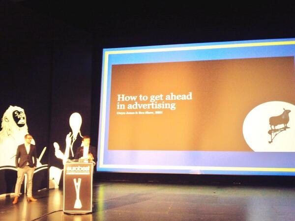 BBH nos cuenta en #Eurobest cómo asomar poco a poco la cabeza en el difícil mundillo de la publicidad http://t.co/YNiWBd3XYF