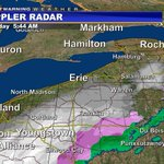 Most areas now seeing snow. The precip has let up across northern areas...for now. Welcome back, winter. #pawx #erie http://t.co/9X2pZrYvI8