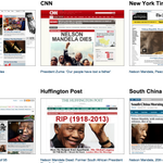 When a great person dies, a view of front pages gives insight: Mandela headlines around globe http://t.co/dwN1Y1lGzM http://t.co/wFJlWeAQ55