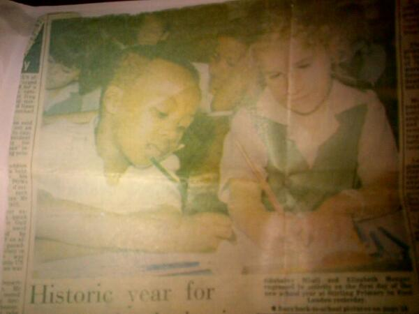 This is me in 1990 making History as the 1st Black Pupil in Stirling Primary, This is what Madiba fought for.. http://t.co/w6HcMjx1To
