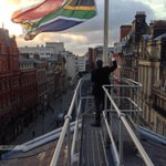 Liverpool town hall flies South African flag at half mast out of citys immense respect for Nelson Mandela http://t.co/pl7T7AvHxM