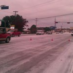 Knickerbocker blocked from Johnson to Loop due to ice, incline causing spin outs. http://t.co/BTpewEnT8U