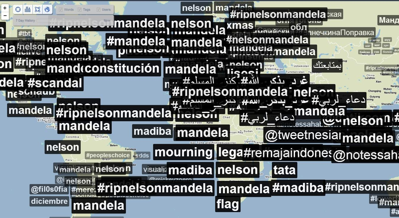 The entire world, including the social world, continues to talk about #Mandela http://t.co/6BzO45viWT via @BBCOS