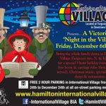 Horse and carriage ride anyone? More great holiday programming this evening in @HamIntlVillage #HamOnt http://t.co/1rmXuj3N0D