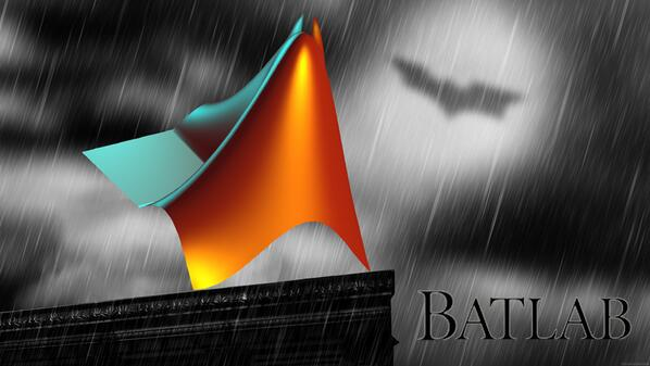 "I kept typoing ""Matlab"" as ""Batlab,"" so I really had to do this. http://t.co/nwuTLLHV9y"