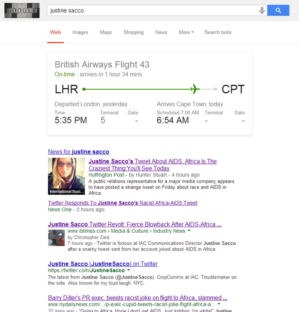 How did Google know to do this?  #HasJustineLandedYet http://t.co/q1xFf61bbH