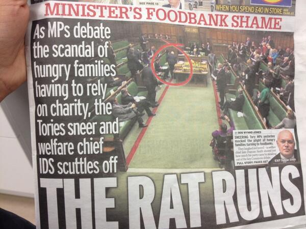 After IDS was challenged on his attitude to rising foodbank usage on @daybreak - today's @dailymirror.. http://t.co/UHJp3gJkLW