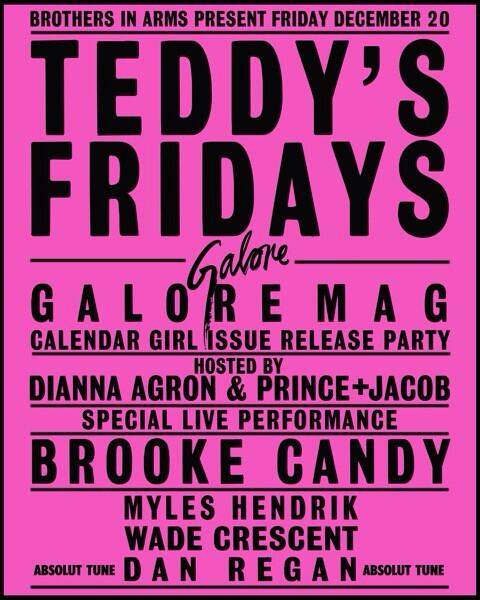 This Friday at Teddy's we're damn well bringing it. Get ready. @TheGaloreMag @BR00KECANDY @DiannaAgron http://t.co/tUikQlLsBp