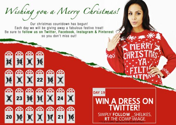 DAY 18 OF OUR #CHRISTMAS ADVENT CALENDAR #COMPETITION today we're giving away another frock! Jus FOLLOW & RT to #WIN! http://t.co/IJIXKM4GRx