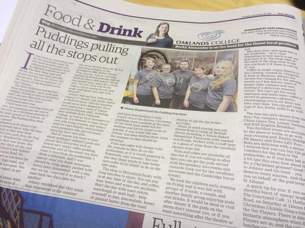 @ThePuddingStop Nice article in this weeks @hertsad http://t.co/DOwU7bafC9