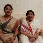 Pt. Mallikarjun Mansurji ki granddaughter Dr. Seema aaj mujhe milne aayi thi. Mujhe bahut khushi hui. http://t.co/obgxqVr3O7
