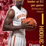 RT @CycloneMBB: Dustin Hogue (@DustinHogue1) leads the @Big12Conference and is sixth nationally in rebounding. http://t.co/NQo5VCzVqW