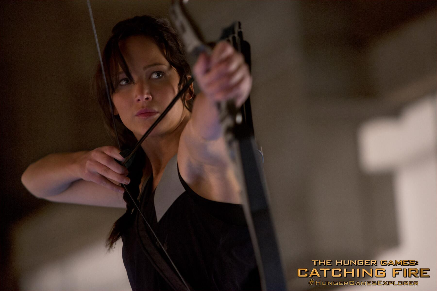 At least half the other victors requested to be Katniss's ally after seeing her practice... #CatchingFire http://t.co/SRngEFOFvC